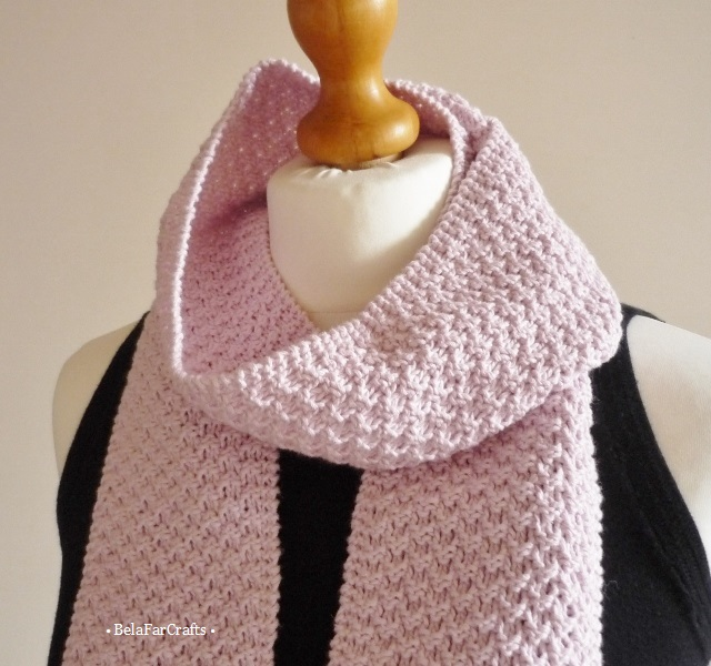Wool-free scarf for girls - Gift for teens - Pink neck scarf - One of a kind
