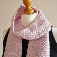 Wool-free scarf for girls - Gift for teens - Pink neck scarf