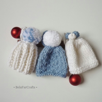 'White Xmas' decorations (3) - Winter wedding favours - Baby's first Christmas