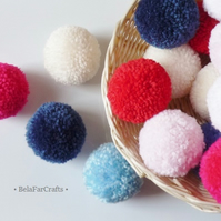 Yarn pom poms (10) - Wedding decorations - Gift box decor - Bunting & Garlands