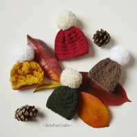 Choose any 3 hats - Goody bag fillers - Fall decorations - Pom pom mini hats