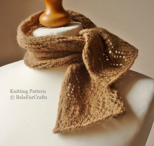 KNITTING PATTERN - Zig Zag Neck Scarf - Gift for crafters