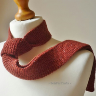 Flecked wool red tie - Rustic wedding theme - Father's Day gift