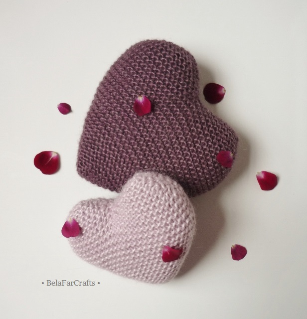 Knitted hearts - Wedding anniversary - 'I love you' gift - Valentine's Day