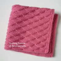 KNITTING PATTERN - Triangles Security Blanket - Beginners knitting project