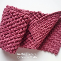 KNITTING PATTERN - Small Bobbles Scarf - PDF file tutorial