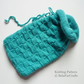 KNITTING PATTERN - Drawstring Pouch - Beginners knitting