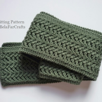 KNITTING PATTERN - Skinny Lace Scarf - Ideal for lace knitting learners