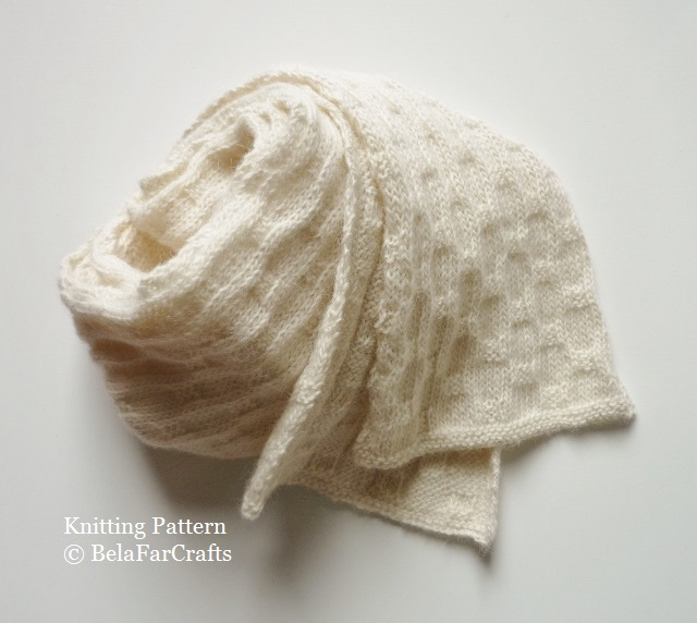 KNITTING PATTERN - Highland Wool Scarf - Intermediate knitting