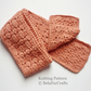 KNITTING PATTERN - Fall Acorns Scarf - Ideal for lace knitting learners