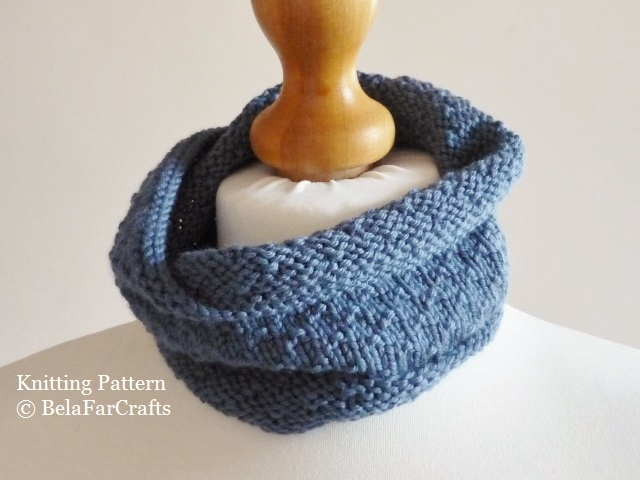 KNITTING PATTERN - Kids Dotty Cowl - Beginners knitting project