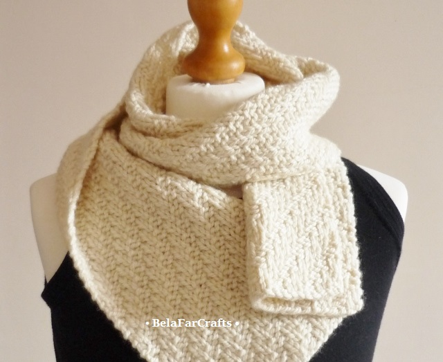 British wool unisex scarf - Handmade in UK - Wool wedding anniversary gift