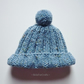Boys' knitted hat - Beannie for toddlers - Kids' pom pom hat