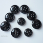 Set of 9 black buttons - Buttons for clothes - Craft supplies