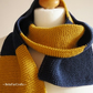 Men's blue, yellow scarf - Guys' knitted cotton scarf - Cotton gift for him