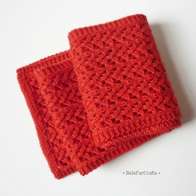 Bright red decorative scarf - Gift for Mom - 7th wedding anniversary