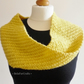 Bright yellow circle scarf - Hand knit shoulder wrap - Teens fashion accessory