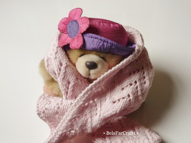 Doll accessories - Stuffed toys scarf - Lacy shawl for dolls - Gift for girls