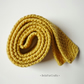 Yellow knitted tie - Pageboy wedding necktie - Back to school - BelaFarCrafts UK