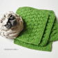 British sheep wool coasters (4) - Apple green doilies - UK handmade gift