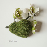 Small heart present - Scottish wool heart  - Stocking filler