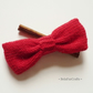 Men's red knitted bow - Small gift for him - Wool bowtie for guys
