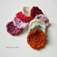 Flower appliques (9) - Crochet embellishments - Craft supplies