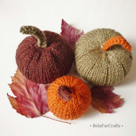 Autumn pumpkins (3) - Thanksgiving decorations - Fall wedding favours