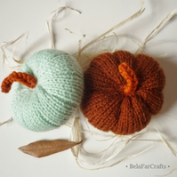 Mint and brown fall theme - Wedding pumpkin decor - Fall favours
