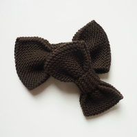 Chocolate brown bow set - Gift for father & son - Best friends gift