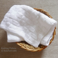 KNITTING PATTERN - Baby Squares Blanket - Knitting tutorial