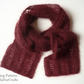 KNITTING PATTERN - Mohair Eyelet Scarf - Lace knitting