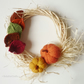 Autumn minimalist wreath - Harvest wall decor - Wood frame wreath