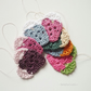 Crochet hearts (7) - Hanging ornaments - Wedding table scatter