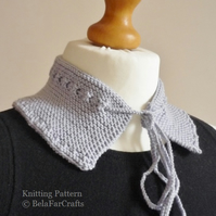 KNITTING PATTERN - Wool Collar - Knit Your Own