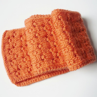 Orange wool scarf - Girls' spring scarf - Eco friendly gift for kids