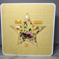 Yellow star shaker Father's Day card