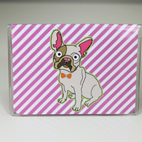 French Bulldog Card Wallet, Bus Pass,Travel Card, I.D Holder