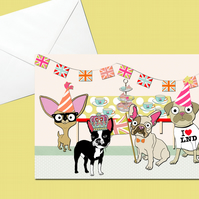 Dog Street Party Card