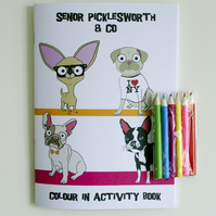 Chihuahua & Pug Colour in Activity Book