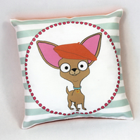 Chihuahua Mini Cushion With Beret