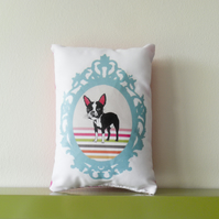 Boston Terrier Cushion Vintage Frame