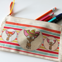 Chihuahua Pencil Case With Sailor, Mexican & Beret