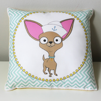 Chihuahua sailor Mini Cushion