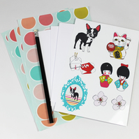Boston Terrier Writing Set With Envelopes