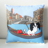 Japanese Chin Mini Cushion Venice Themed