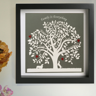 Family Tree Papercut - personalised gift