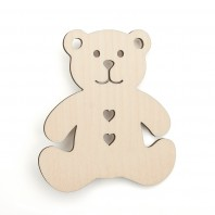 Wooden Teddy Bear