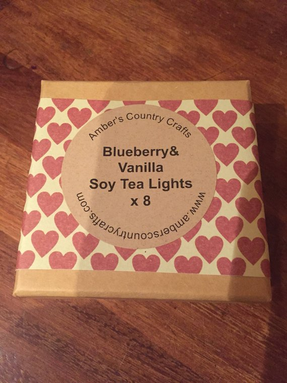 Cranberry Tea Lights, Festive Cranberry Soy Tea Lights