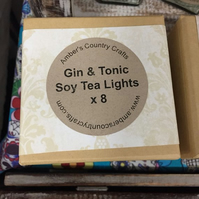 Gin and Tonic Tea Lights